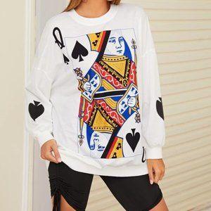 NWT Graphic Print Drop Shoulder Sweatshirt